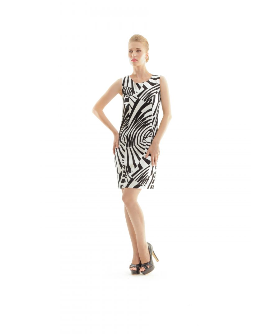 Image for Zebra Print Shift Dress