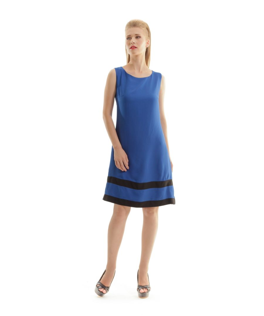 Image for Sleeveless A Line Panel Detail Dress