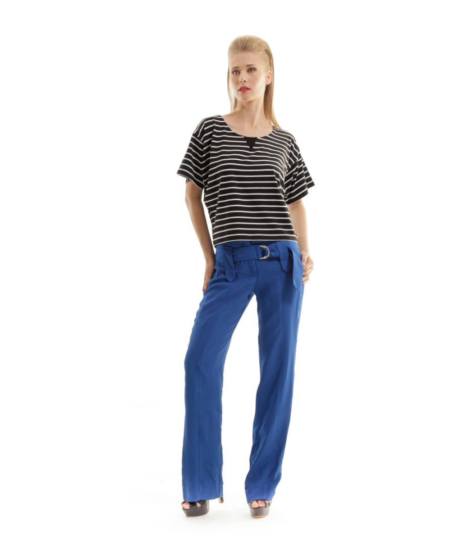 Image for Seamed Pants With Belt