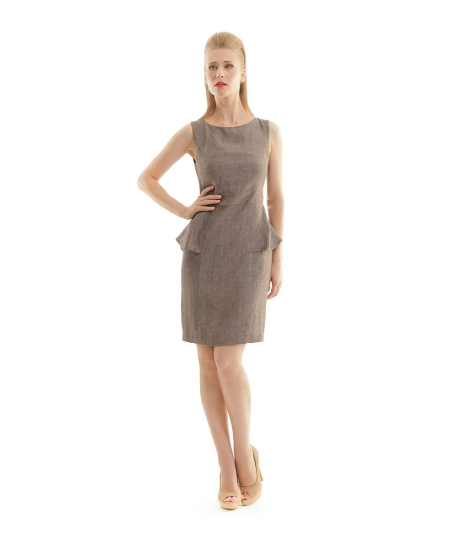 Image for Linen Peplum Dress