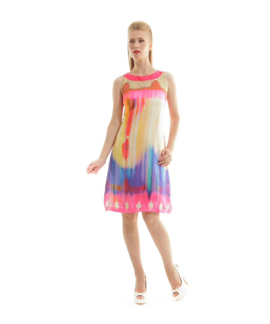 Image for Print Sleeveless Dress chill pepper