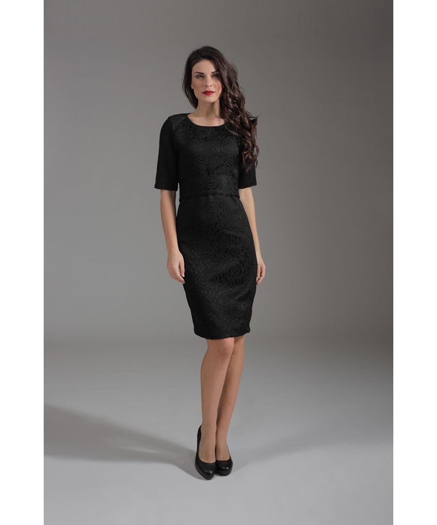 Image for Straight Elbow Sleeve Dress