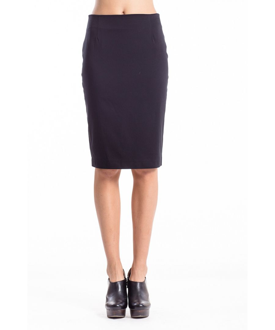 Image for Stretch Fabric Pencil Skirt