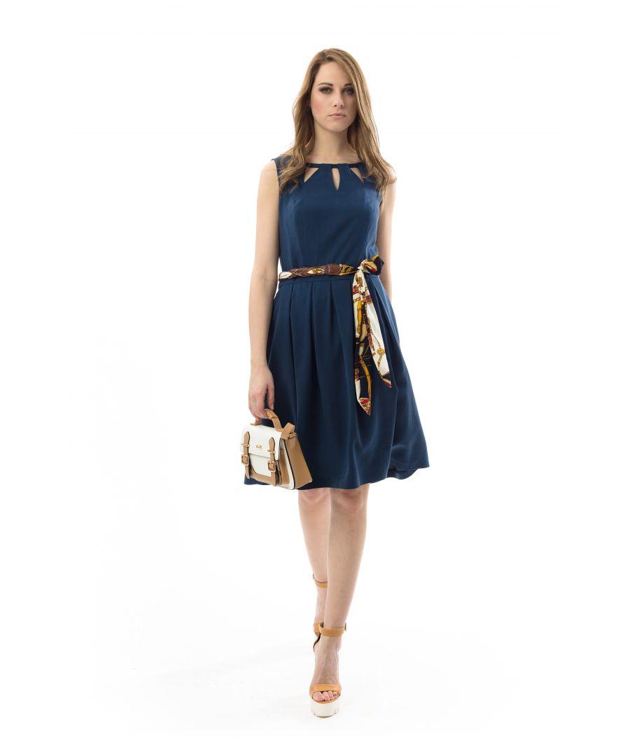 Image for Sleeveless Pleat Detail Dress