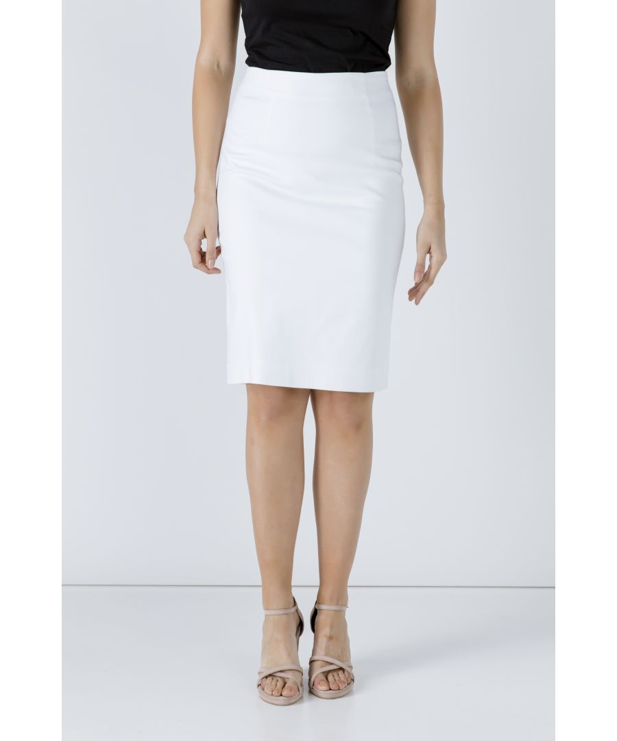 Image for White Pencil Skirt