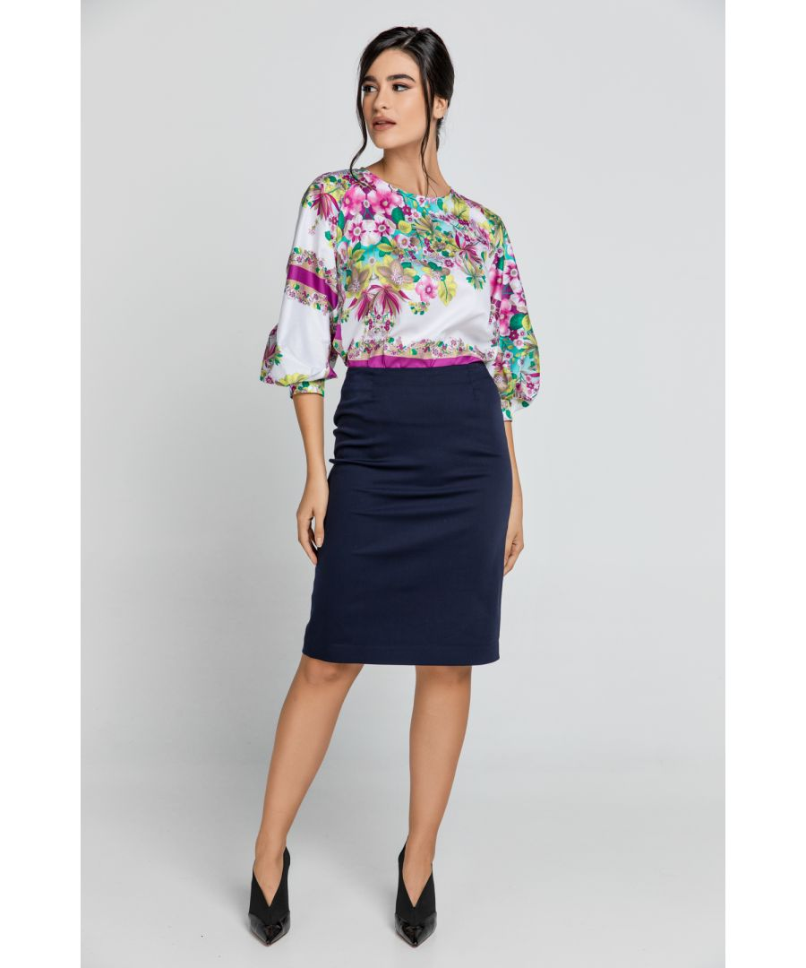 Image for Dark Blue Pencil Skirt
