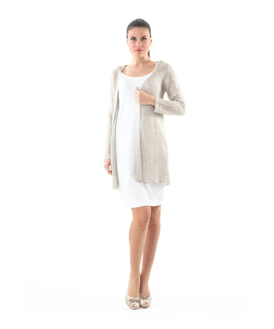 Image for Open-Front Sequin Detail Cardigan