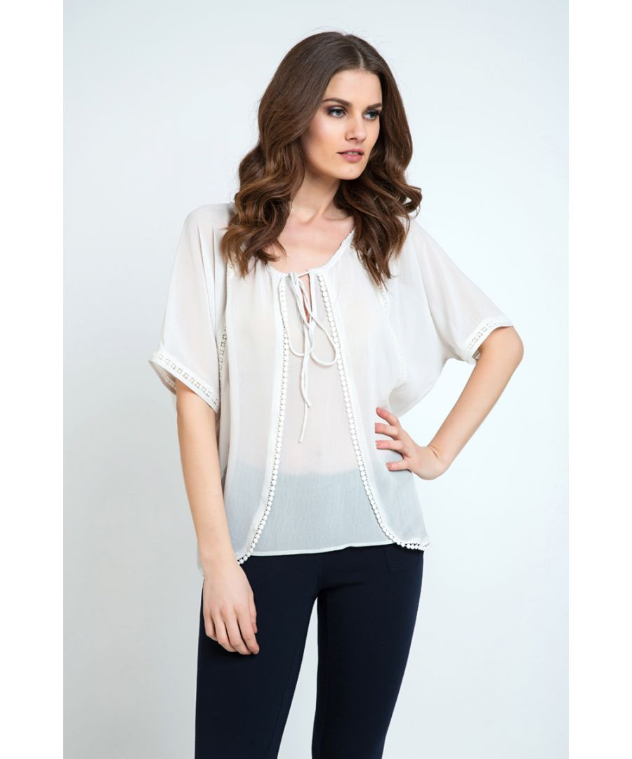 Image for Sheer Boho Top Sand