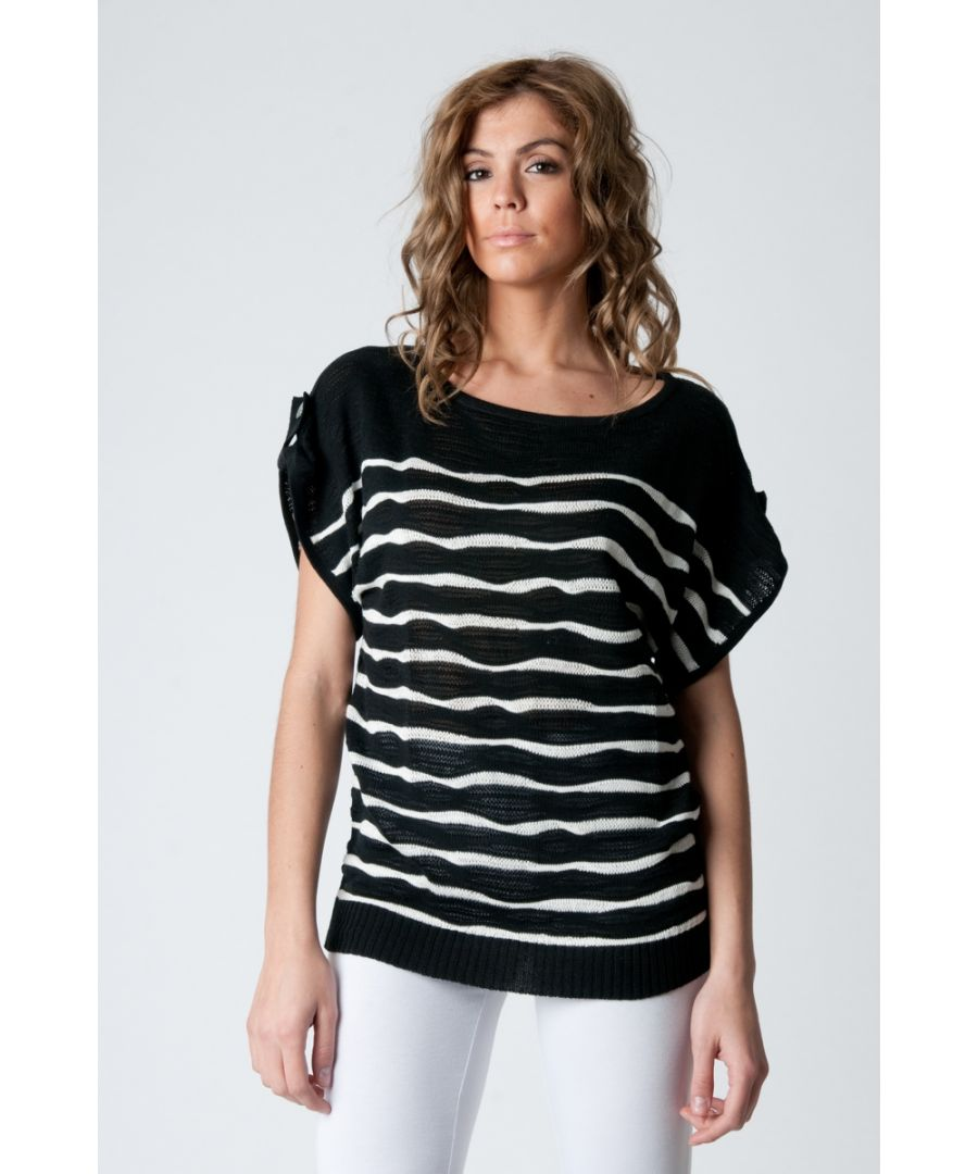 Image for Short Sleeve Striped Pullover