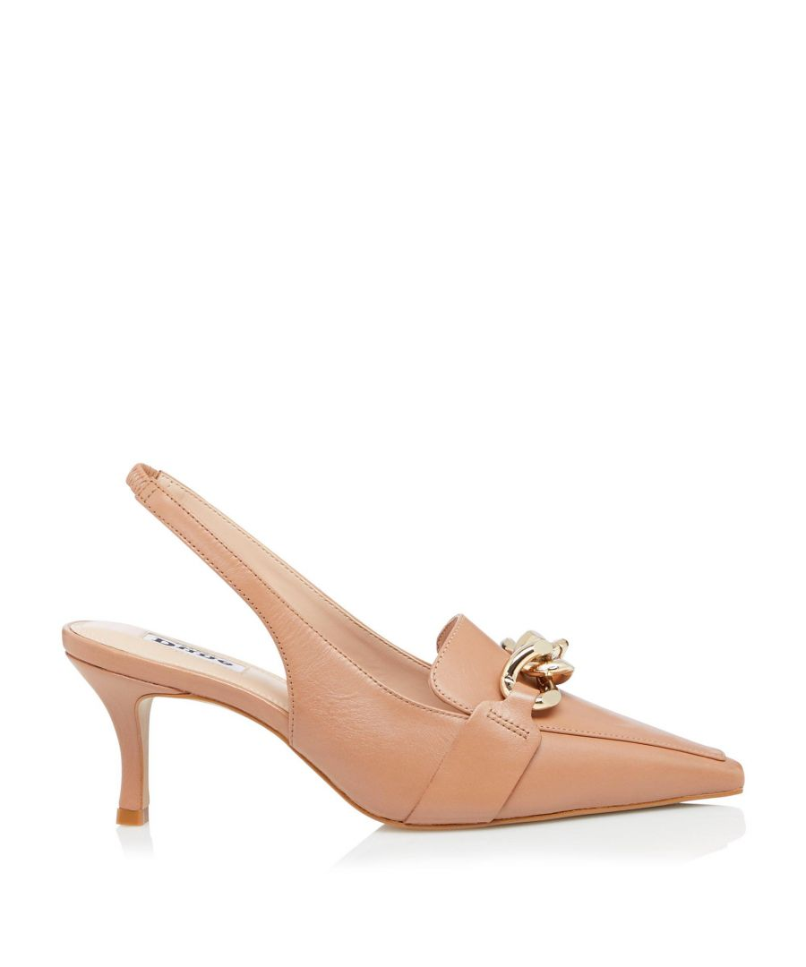 Image for Dune Ladies CALIFORNIA Chunky Chain Detail Slingback Heels