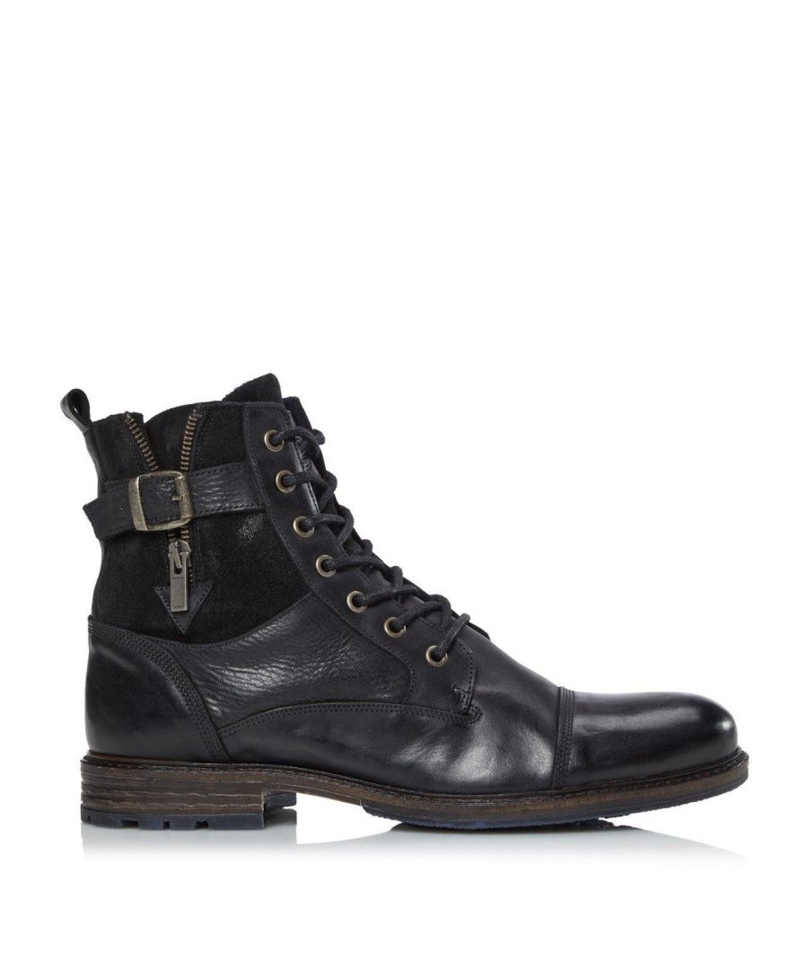 Image for Dune Mens CALL Casual Buckle Detail Ankle Boots