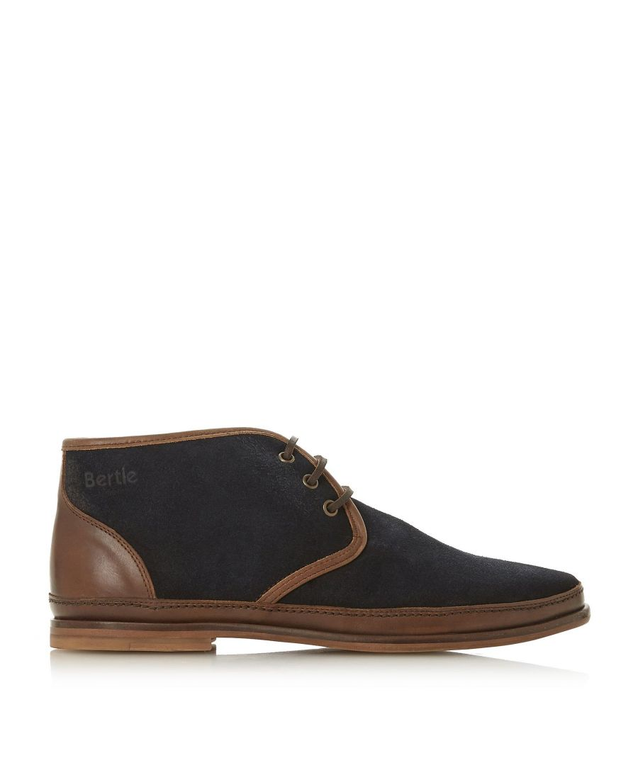 Image for Bertie Mens CANVAS Lace Up Desert Boots