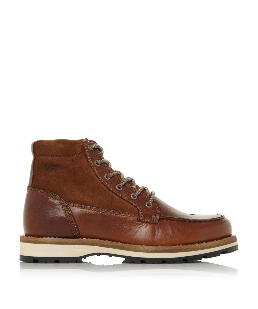 Image for Bertie Mens CANYON Apron Stitching Lace-Up Hiker Boots