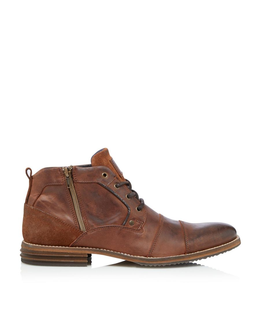 Image for Dune Mens CAPITALS Casual Zip Detail Lace Up Boots