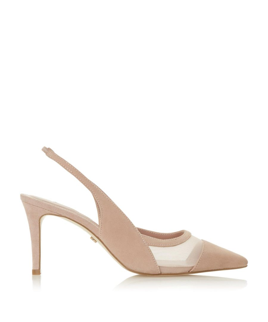Image for Dune Ladies CARIN Slingback Mid Heel Court Shoes