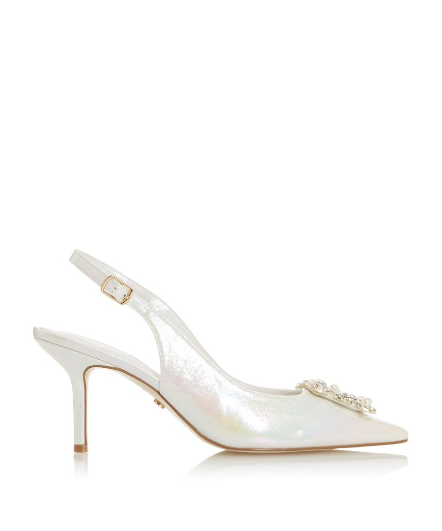 Image for Dune Ladies CARLI JL Slingback Pointed Toe Court Shoes