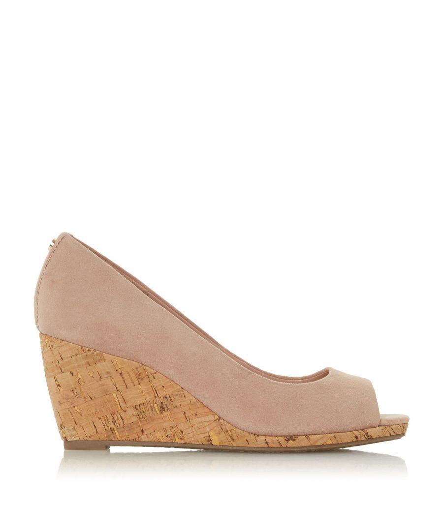Image for Dune Ladies CAYDENCE Peep Toe Cork Wedge Sandals