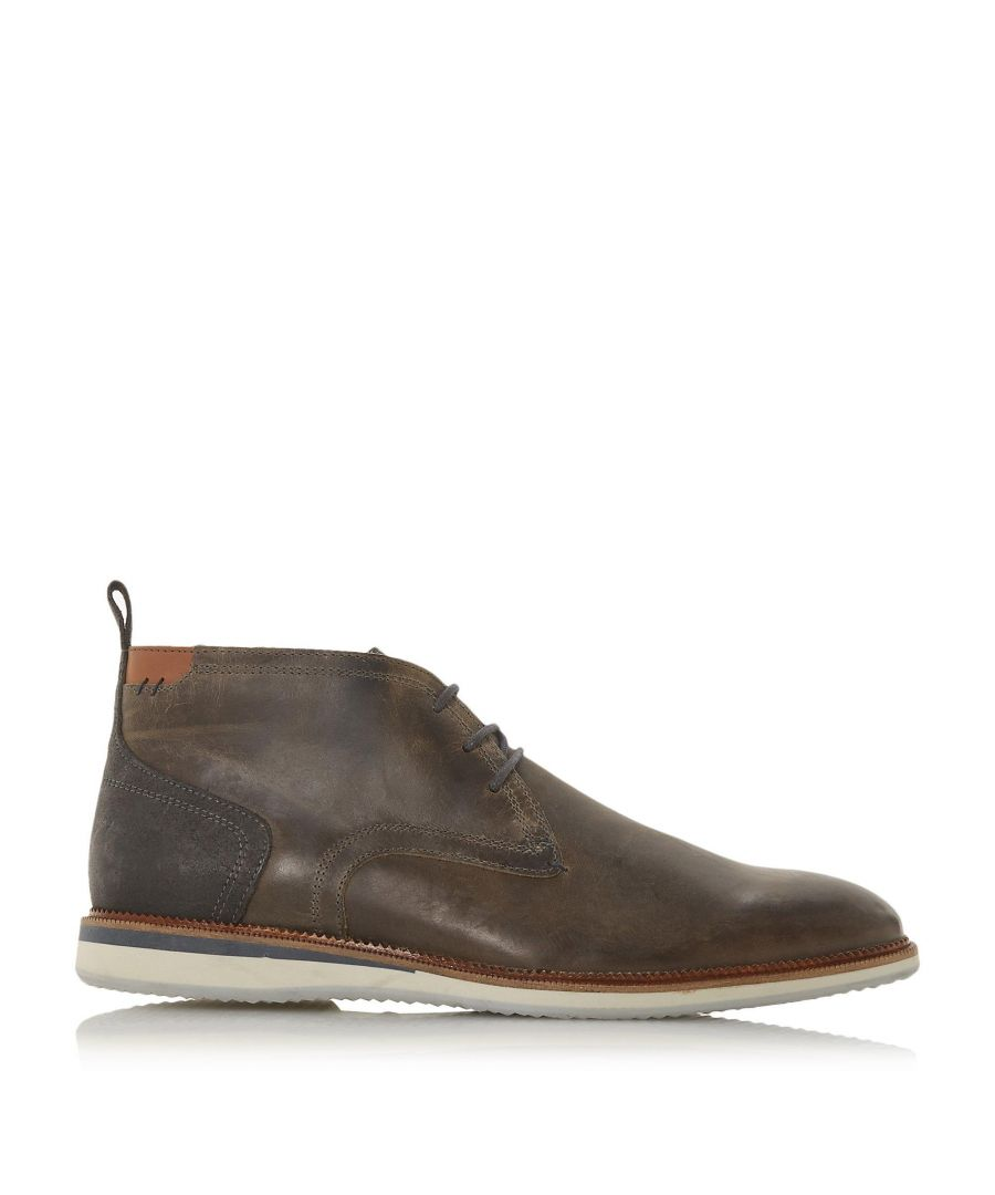 Image for Dune Mens CAYENNE Contrast Heel Panel Chukka Boots