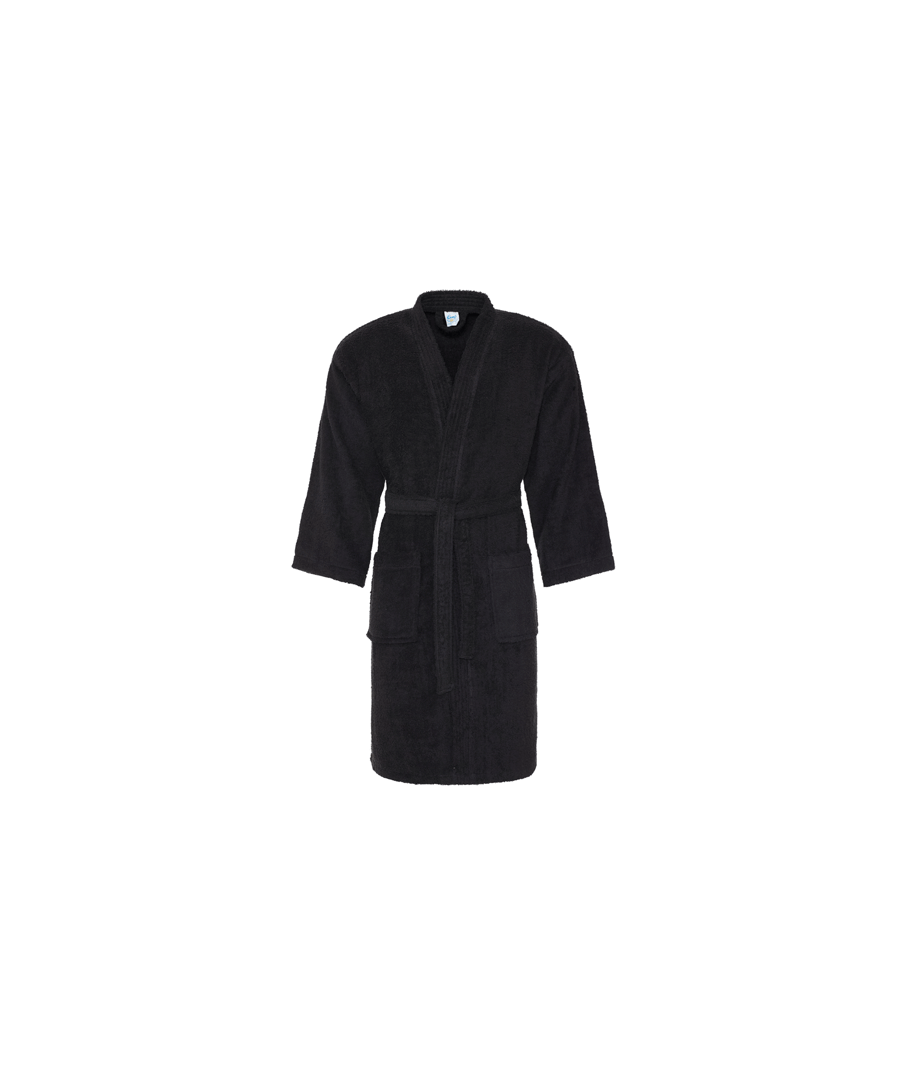 Image for Comfy Cotton Bath Robe Black