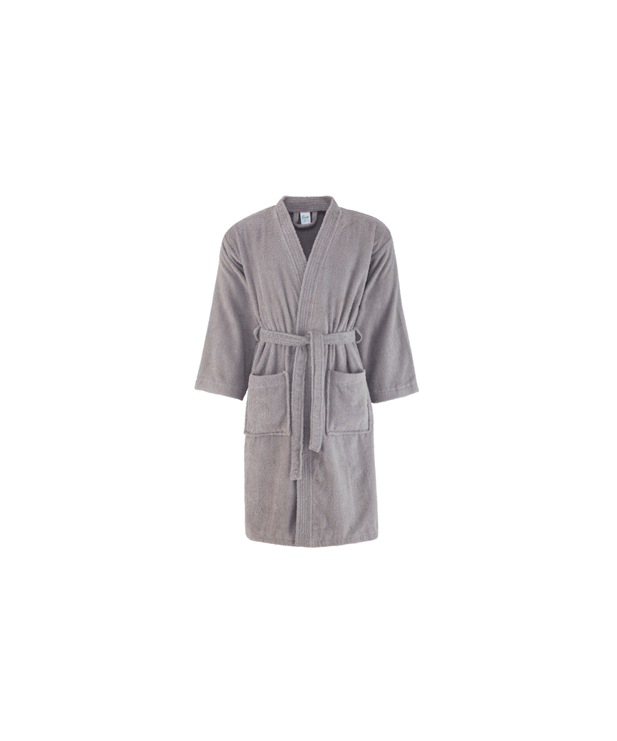 Image for Comfy Cotton Bath Robe Grey