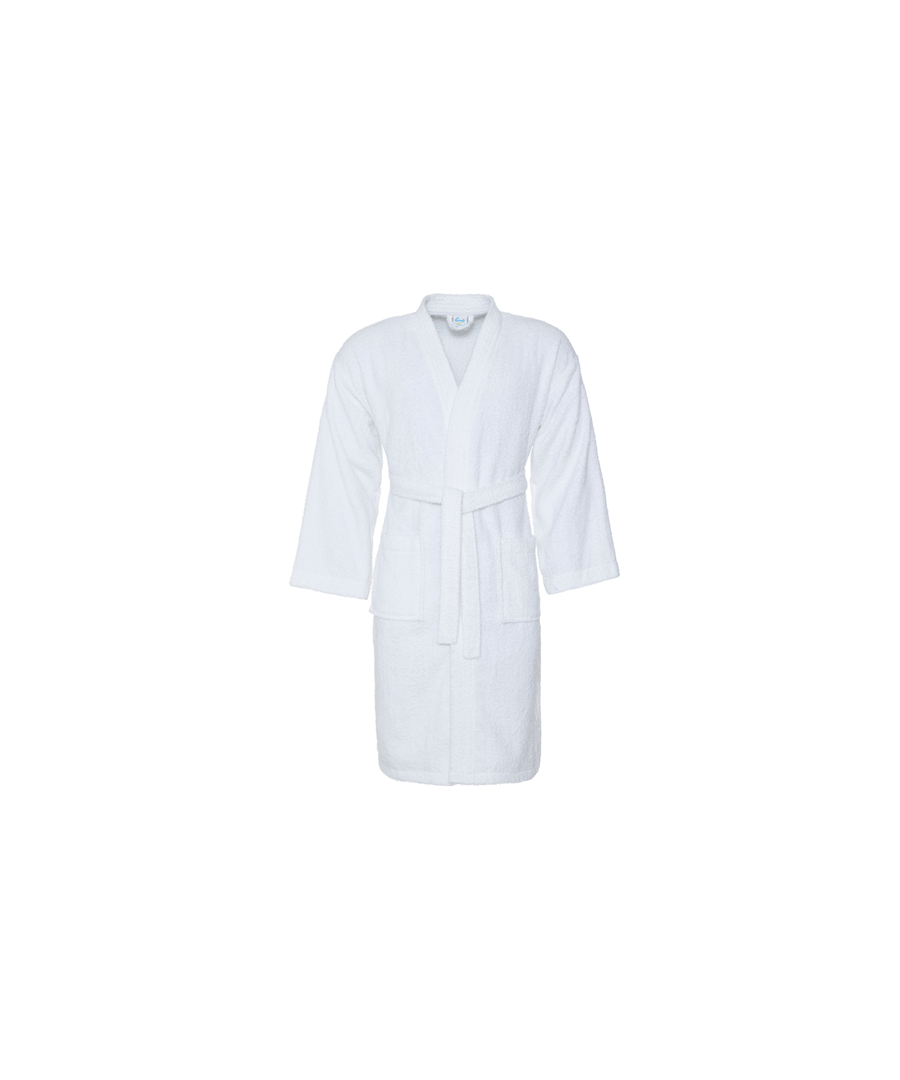 Image for Comfy Cotton Bath Robe White