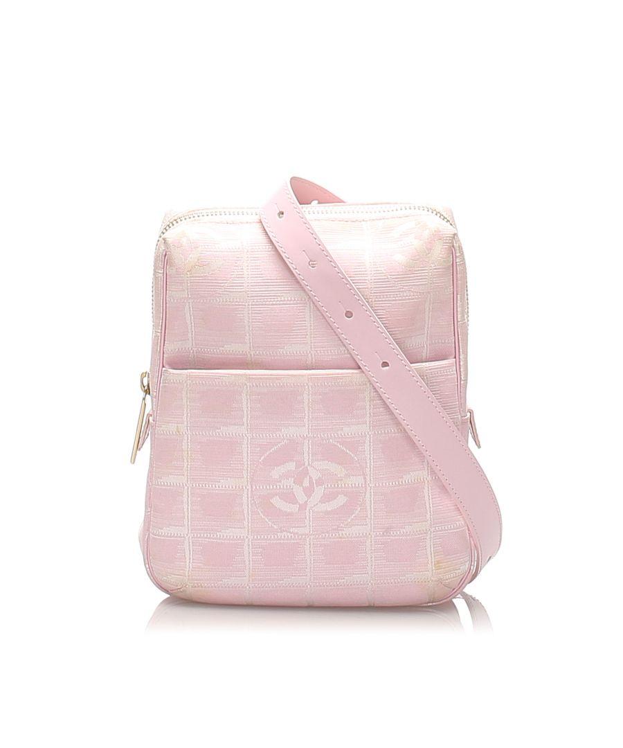Image for Vintage Chanel New Travel Line Nylon Crossbody Bag Pink