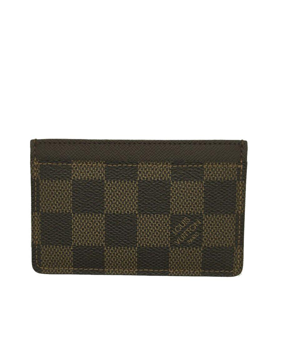 Image for Vintage Louis Vuitton Damier Ebene Card Holder Brown