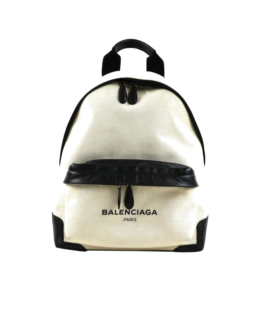 Image for Balenciaga Navy Canvas Backpack