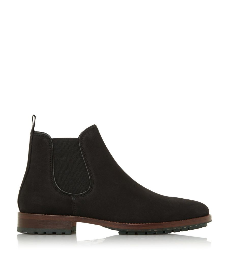 Image for Dune Mens CEDARS Cleated Sole Chelsea Boots