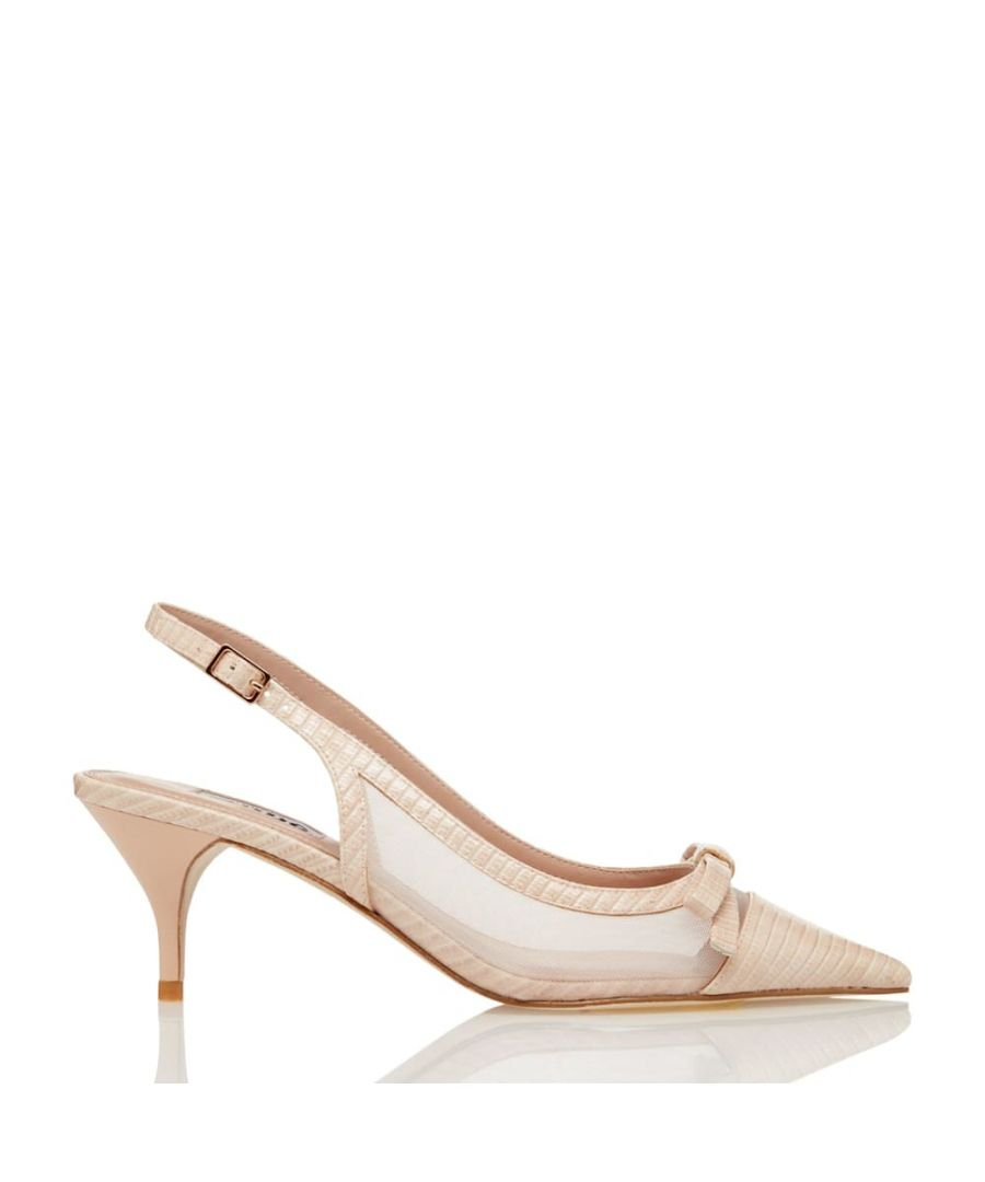 Image for Dune Ladies CELESTE Mesh Detail Kitten Heel Court Shoes