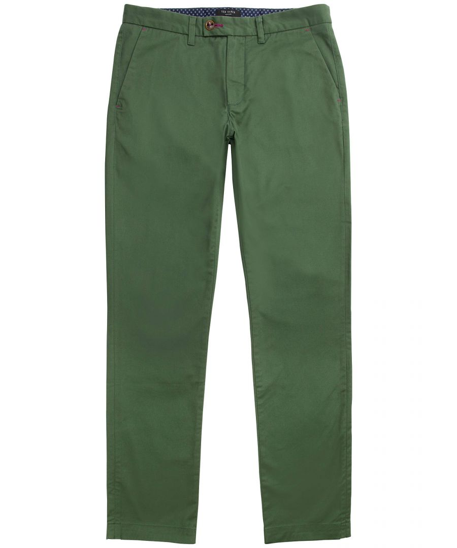 Image for Ted Baker Chaade Classic Fit Chinos, Mid Green