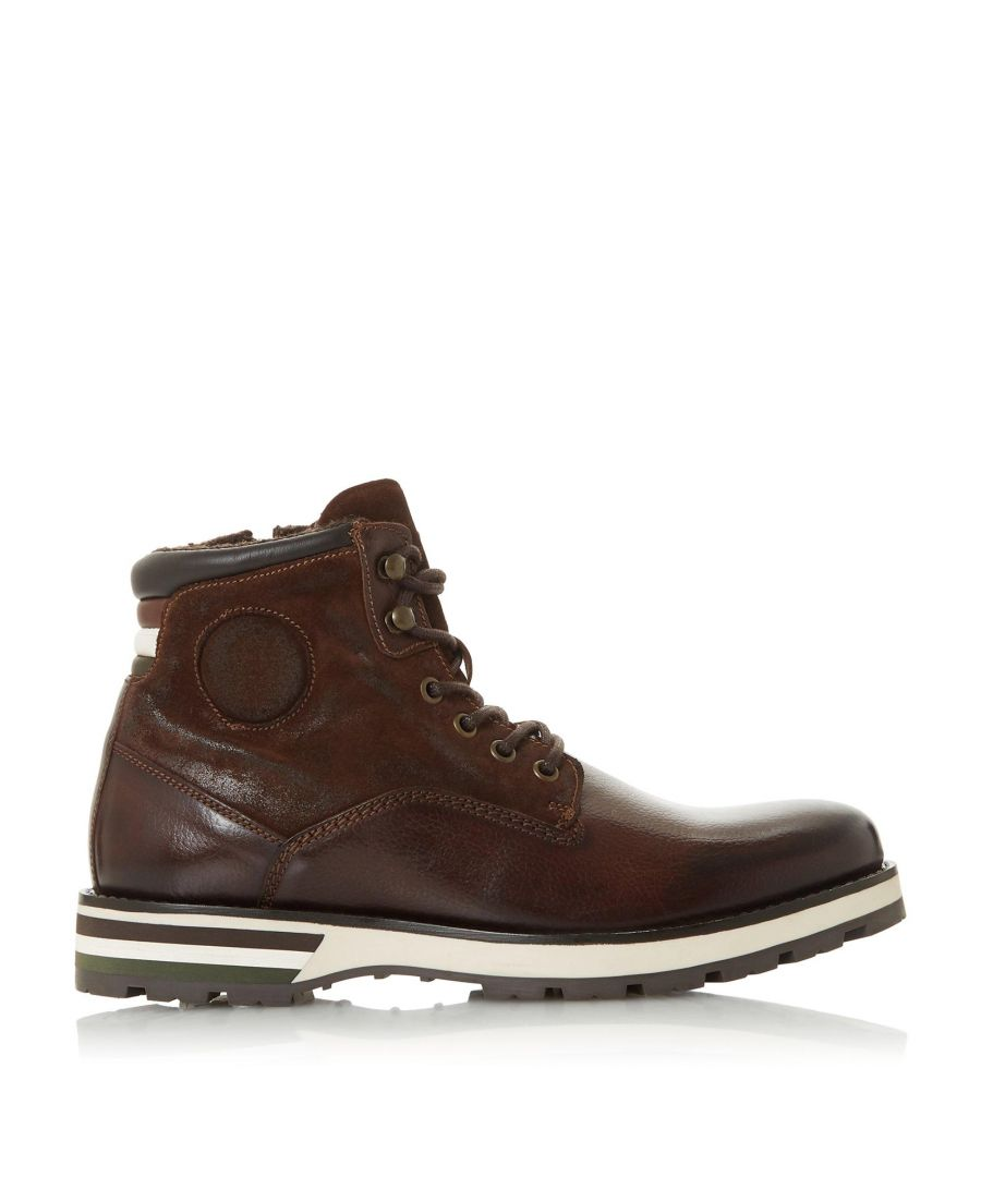 Image for Dune Mens CHALLENGES Contrast Sole Hiker Boots