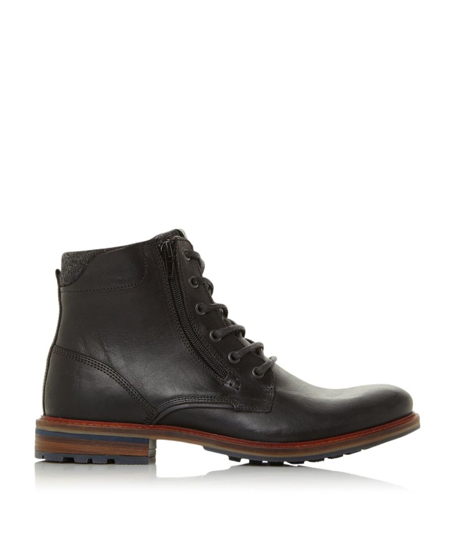 Image for Dune Mens CHANGES Side Zip Chunky Boots