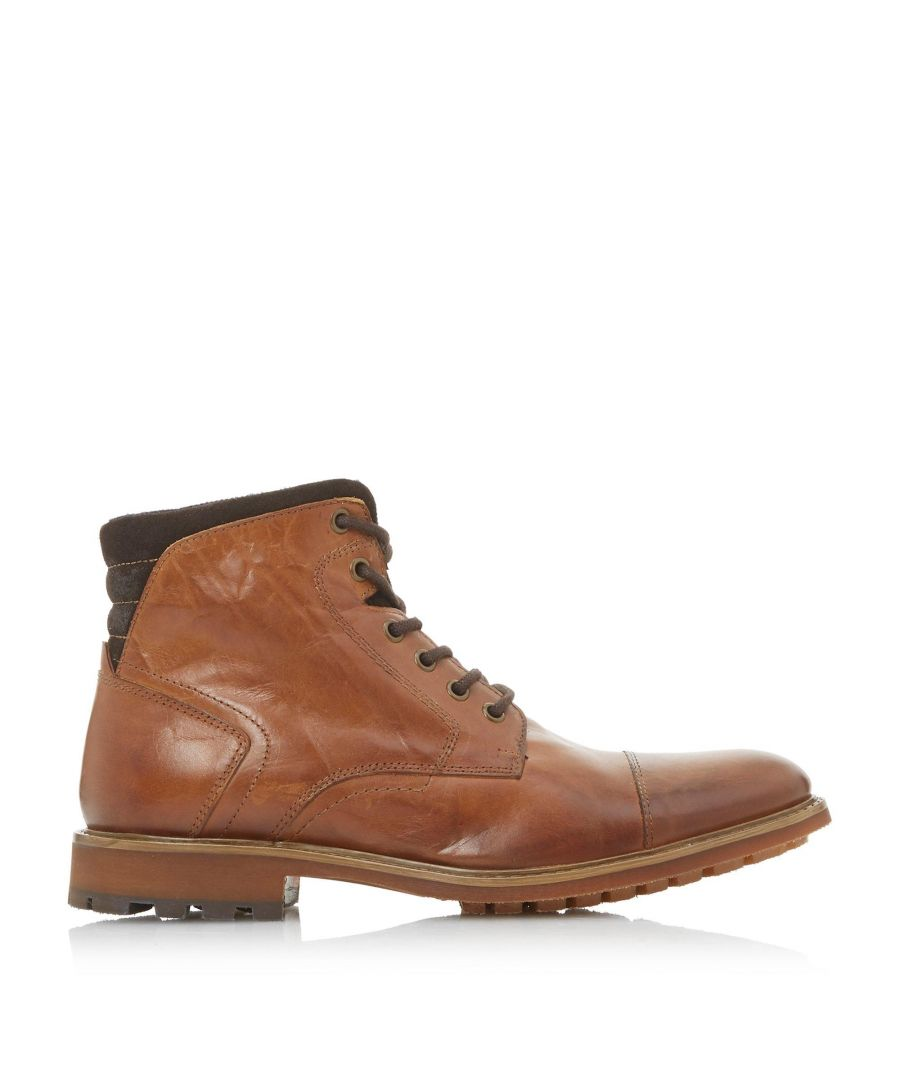 Image for Bertie Mens CHEF Toecap Lace Up Boots