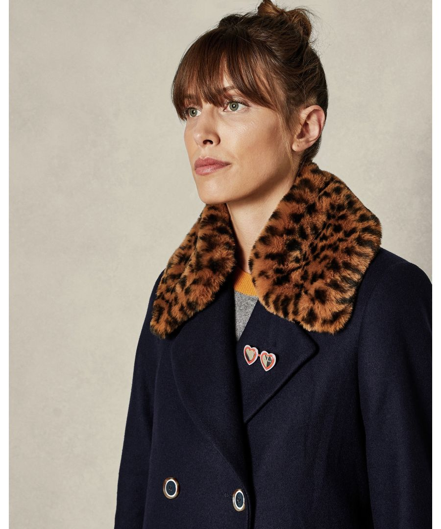 Image for Ted Baker Chenvi Leopard Collar For Style Gaita, Brown