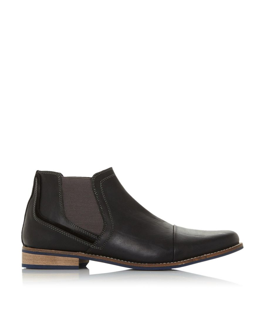 Image for Dune Mens CHIVE 1 Stitched Toecap Chelsea Boots