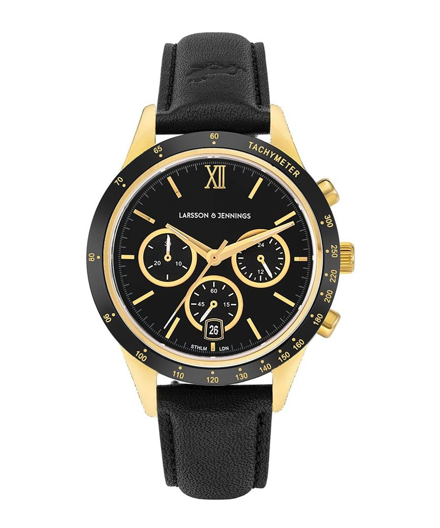 Image for Rally Leather 39mm Gold Black