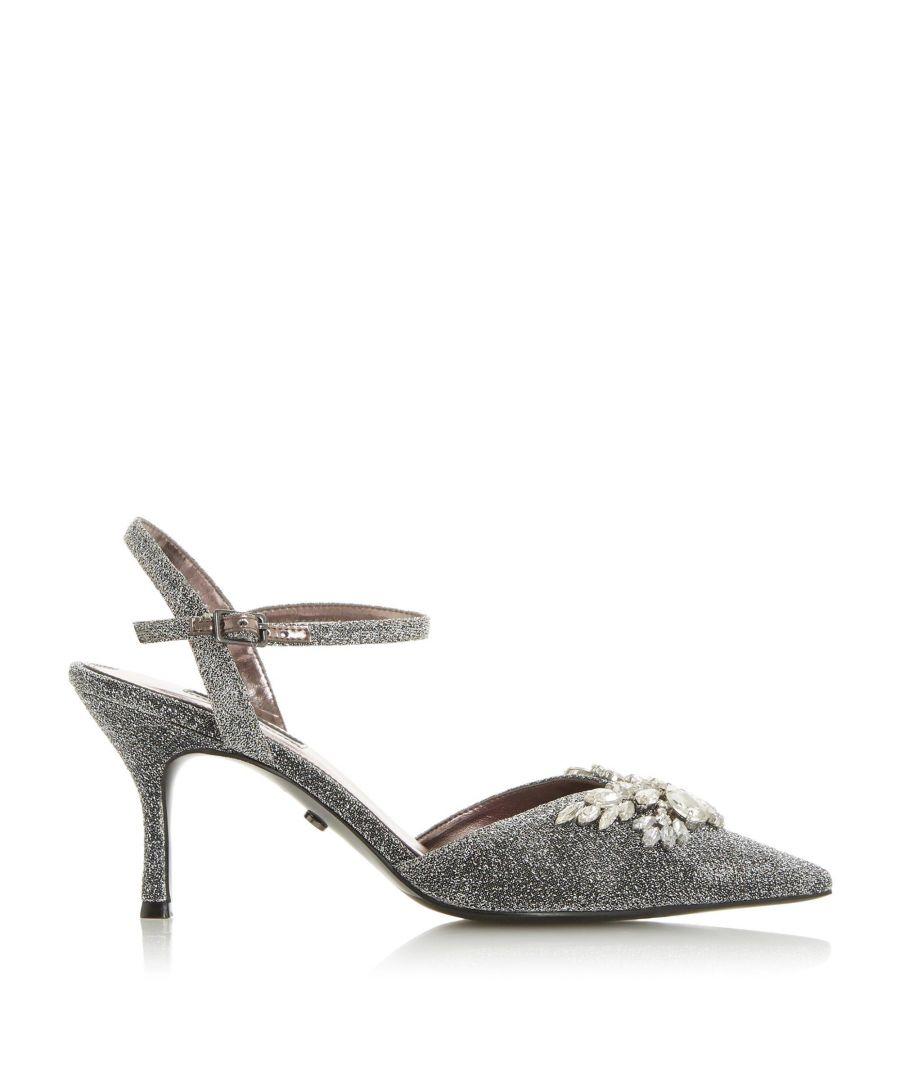 Image for Dune Ladies CHRYSTALISE Embellished Pointed Toe Court Shoes