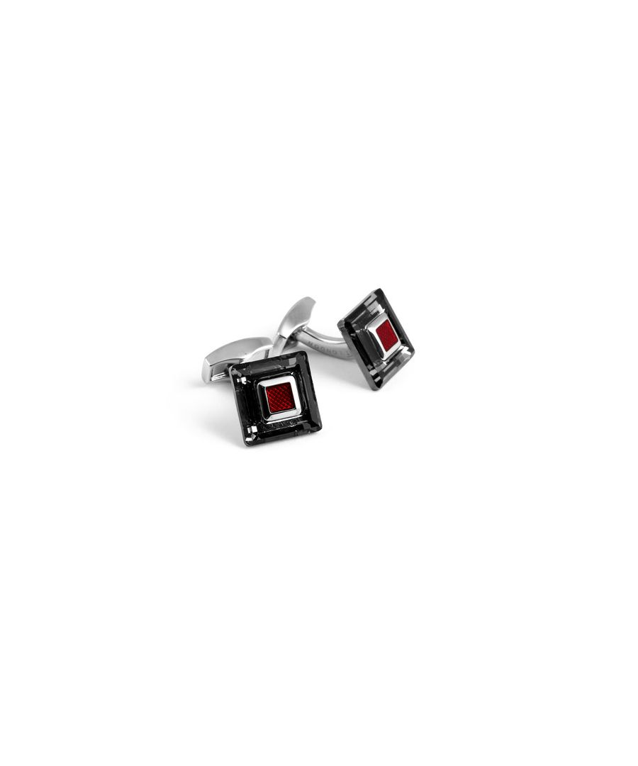 Image for Swarovski frame black and red cufflinks