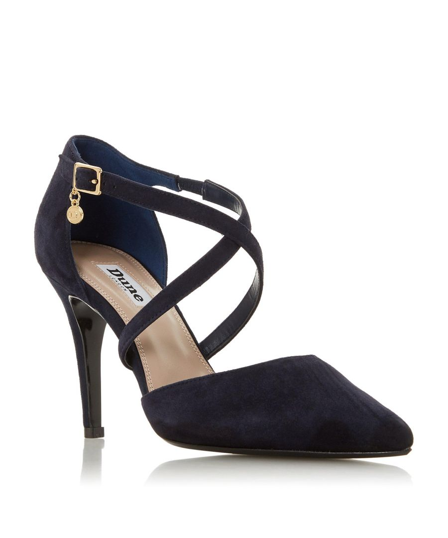 Image for Dune Ladies CLANCY Cross Strap Heeled Court Shoe