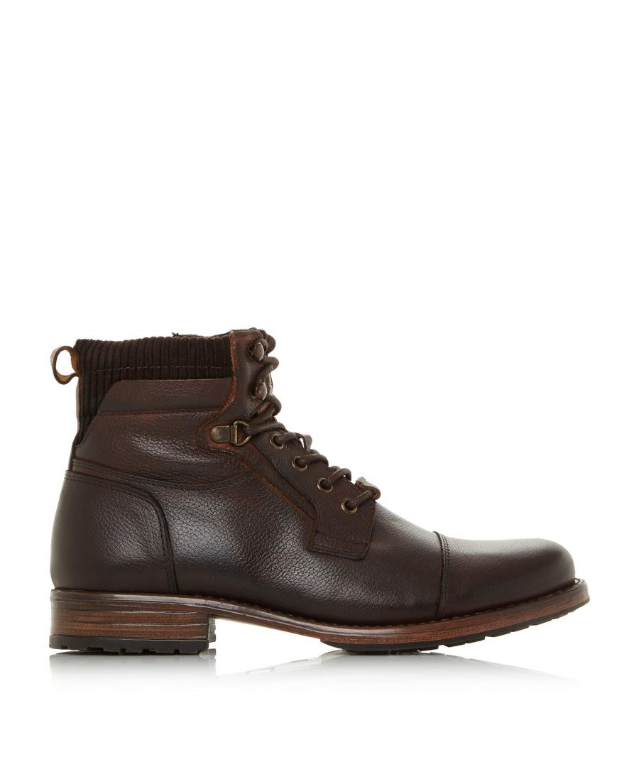 Image for Dune Mens CLAPHAM Contrast Collar Lace Up Boots