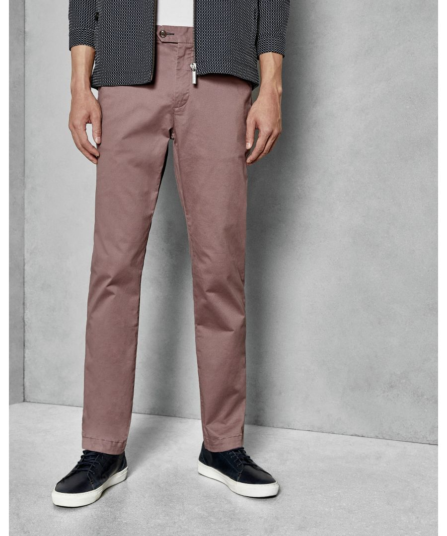 Image for Ted Baker Clenchi Classic Fit Plain Chino, Deep Pink
