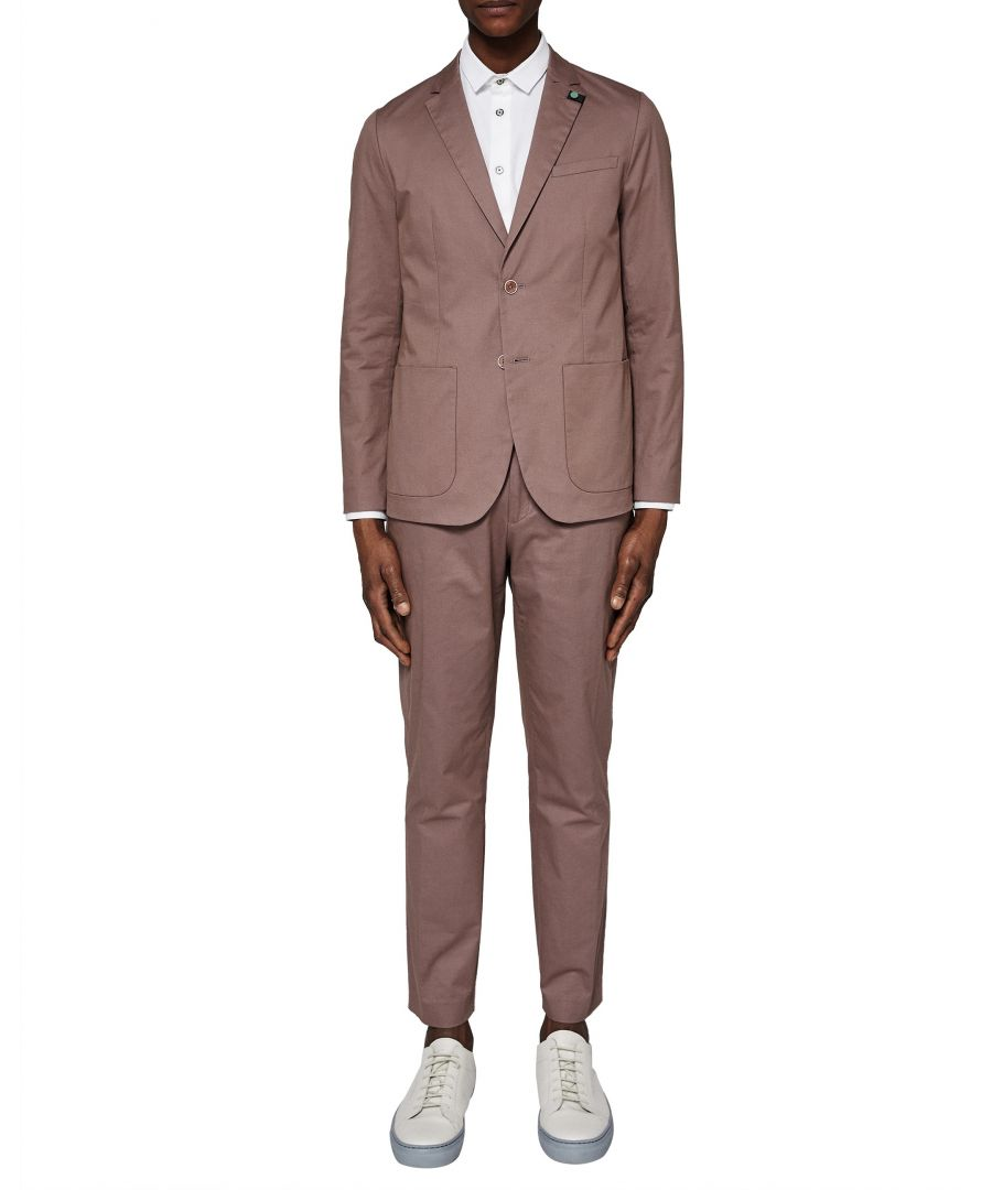 Image for Ted Baker Cliford Piece-Dyed Cotton Blazer, Pink