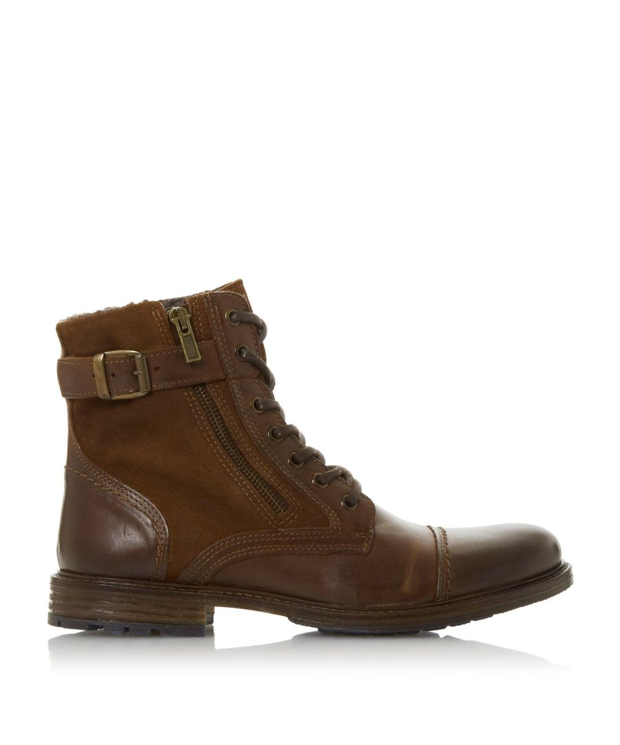 Image for Dune Mens CLOVELAND Buckle Zip Detail Boots