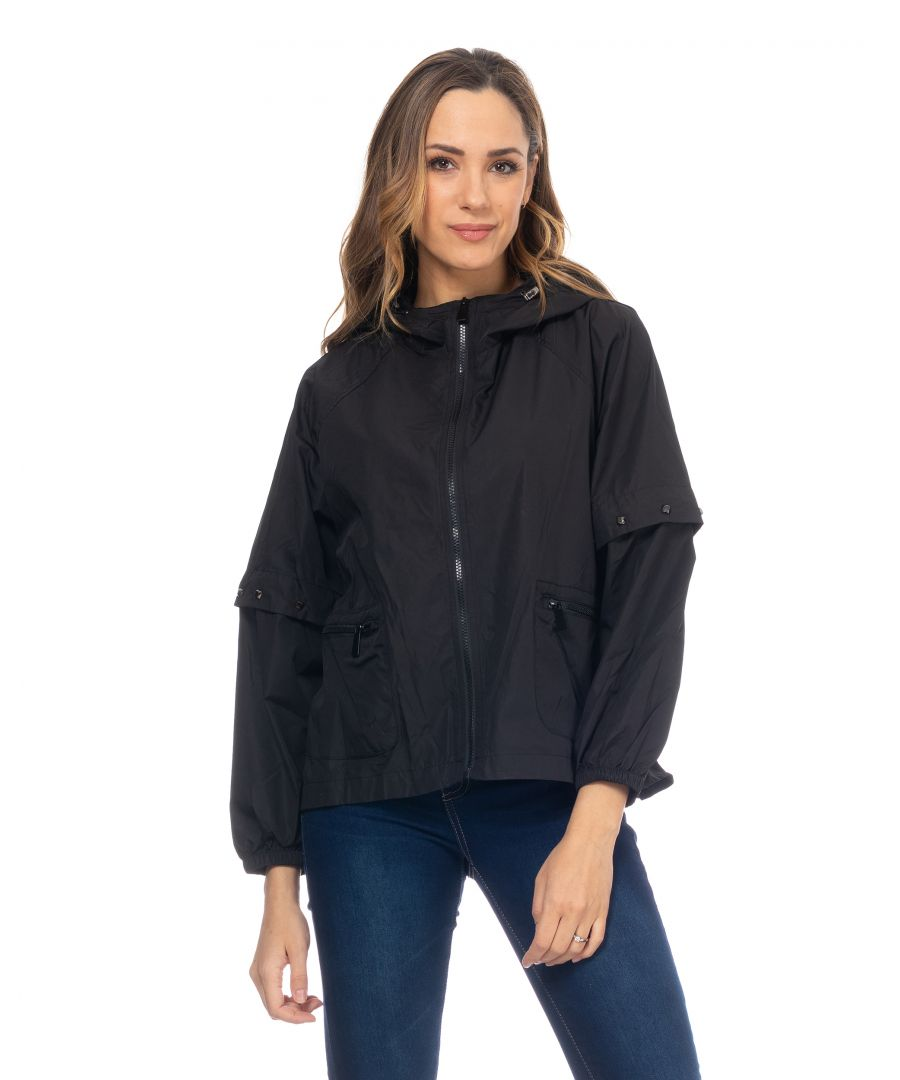 Image for Raincoat With Tacks Around The Sleeves And Hood