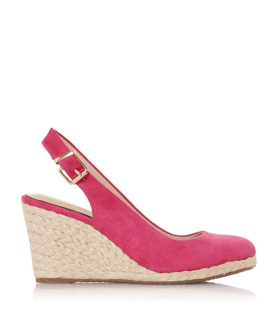 Image for Dune Ladies CODI Slingback High Espadrille Wedge Shoes