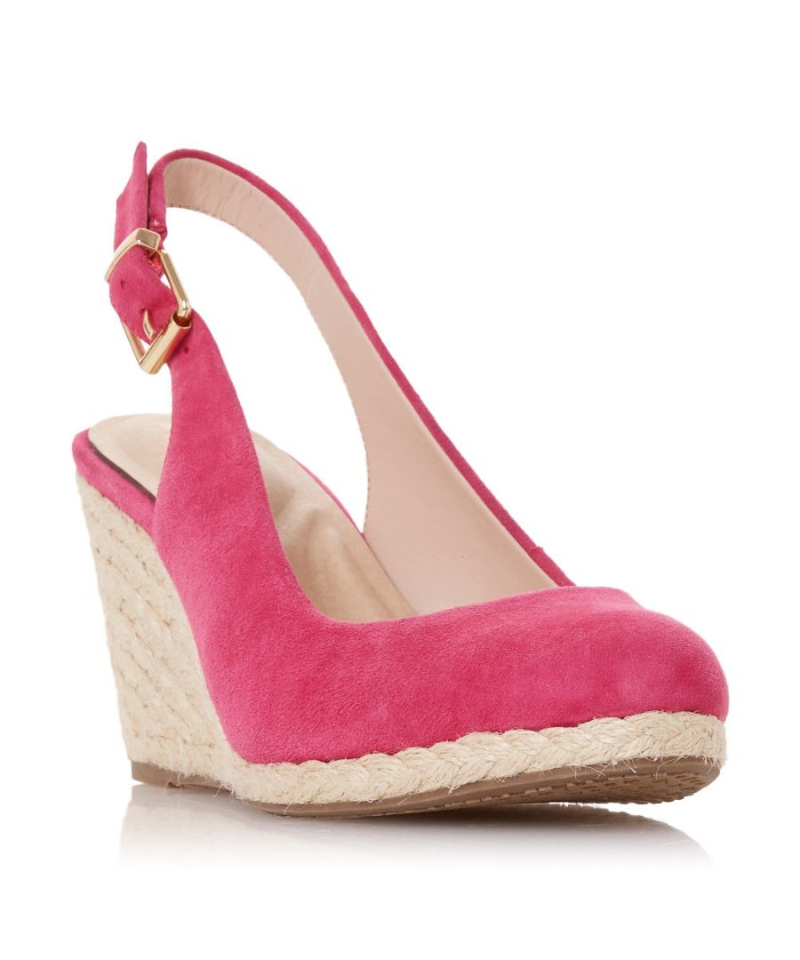 Image for Dune Ladies CODI Slingback High Espadrille Wedge Shoe
