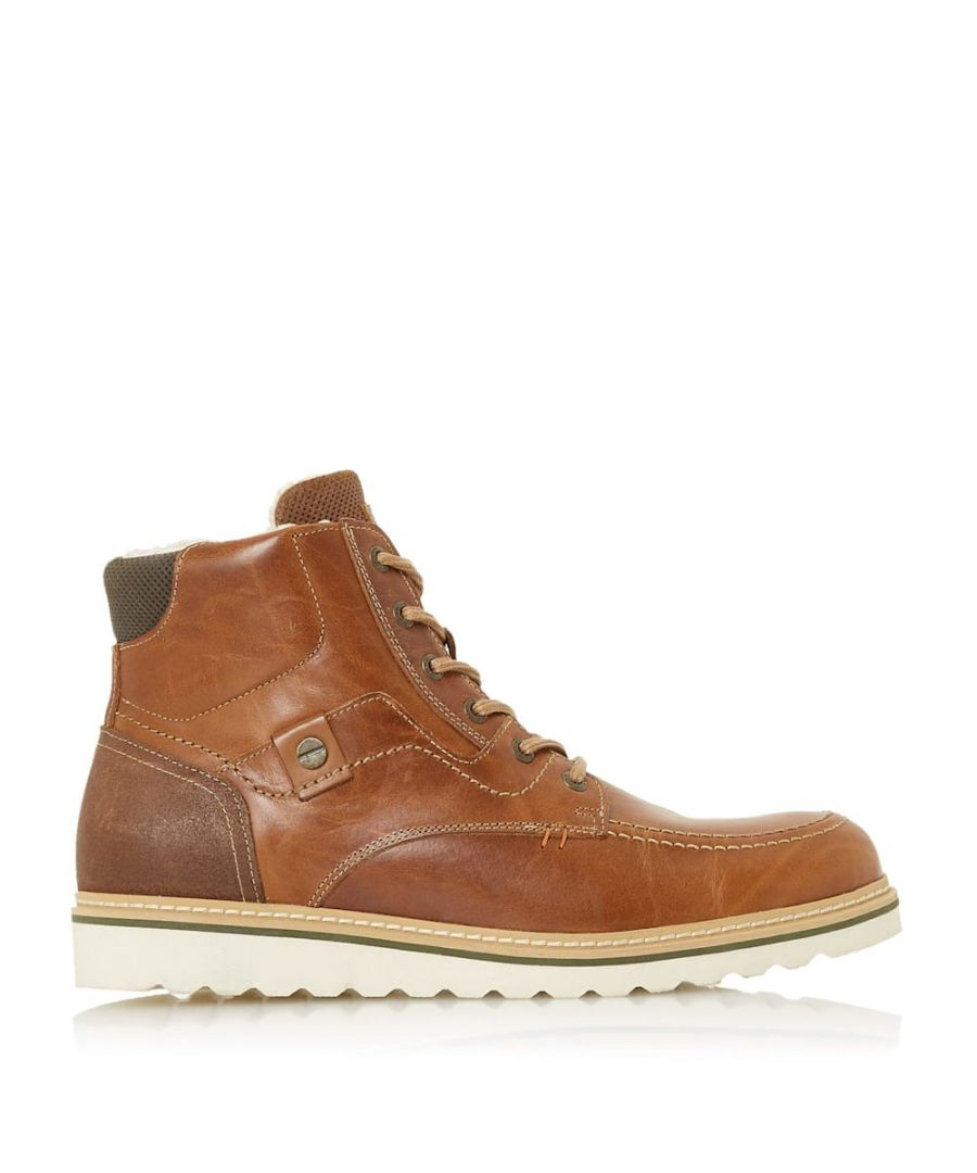 Image for Dune Mens COFFEE Warm Lined Lace Up Boots