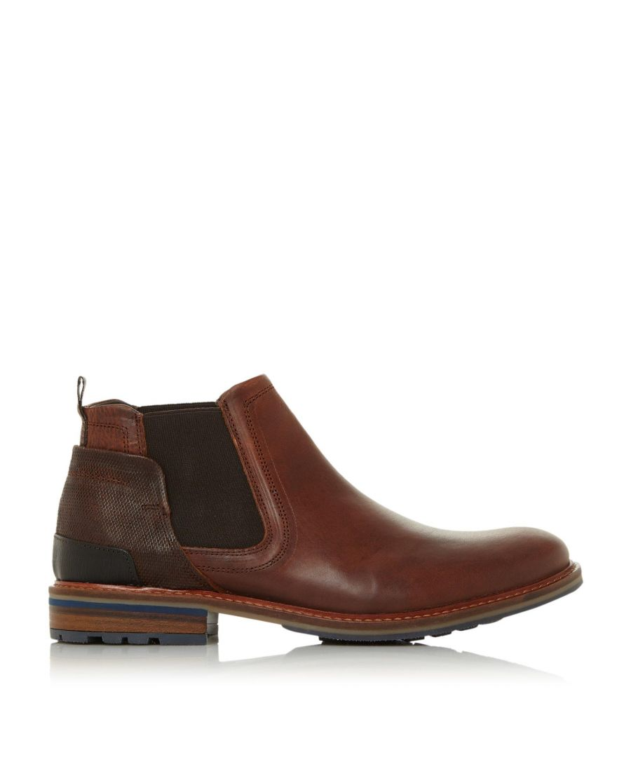 Image for Dune Mens COINS Textured Panel Chelsea Boots