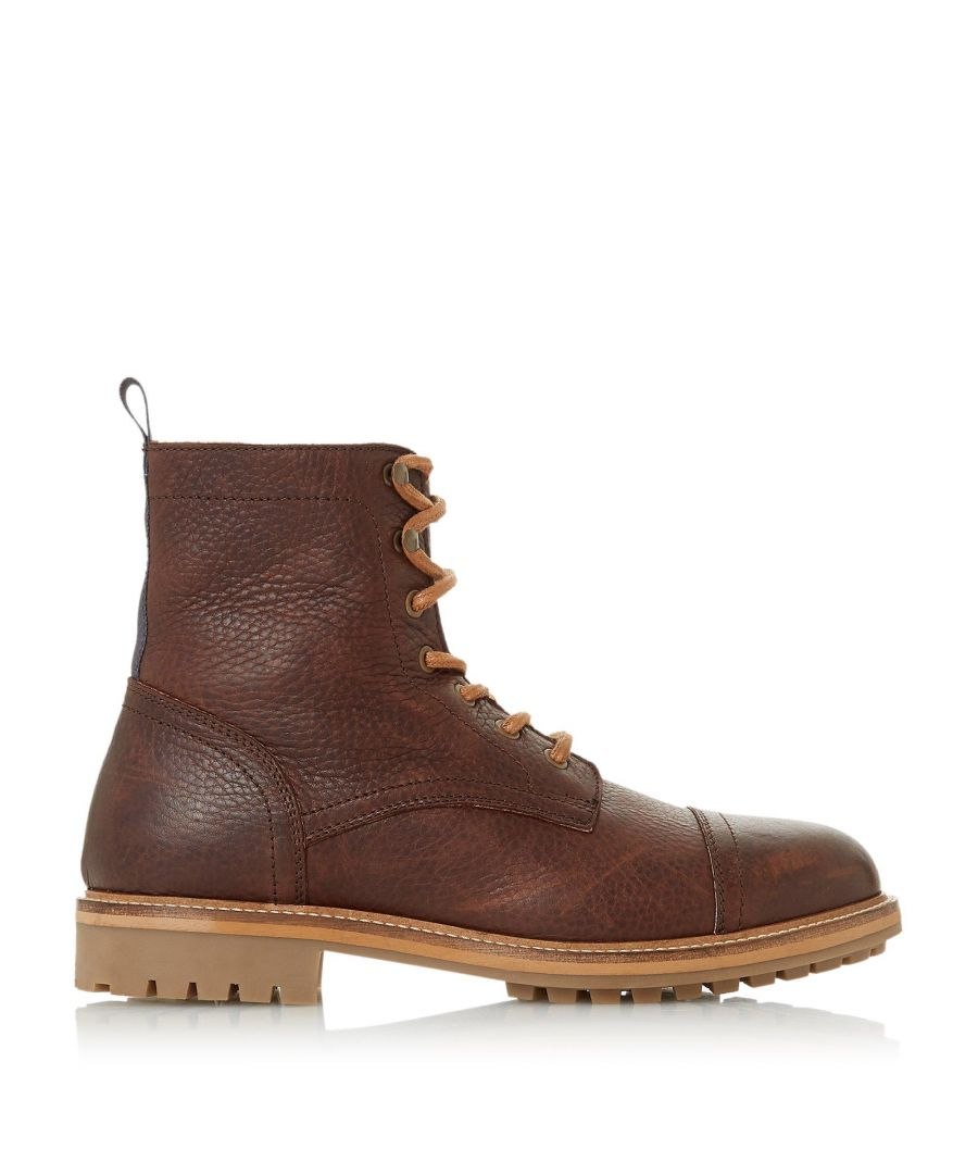 Image for Bertie Mens CONGRESS Toe Cap Cleated Sole Boots
